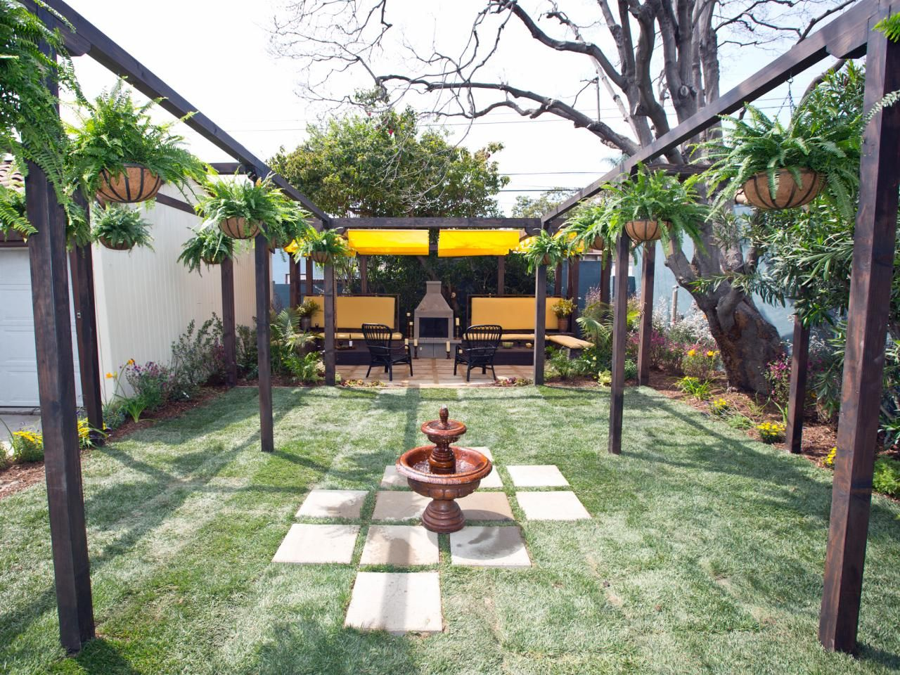 15 before and after backyard makeovers low maintenance plants