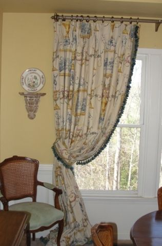 New Drapes From The Curtain Exchange Of Atlanta In My Dining Room