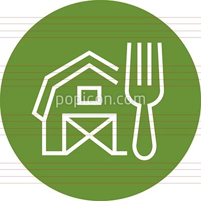 Farm To Table Outline Icon Icon Mobile App Icon Restaurant Icon