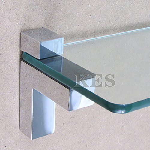 kes hsb301ap2 solid metal adjustable woodglass shelf bracket wall mount 2 pcs - Glass Shelf Brackets