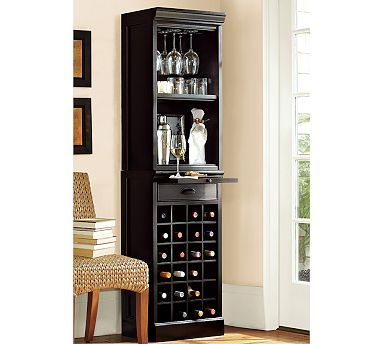 Modular Bar With Wine Grid Tower Potterybarn