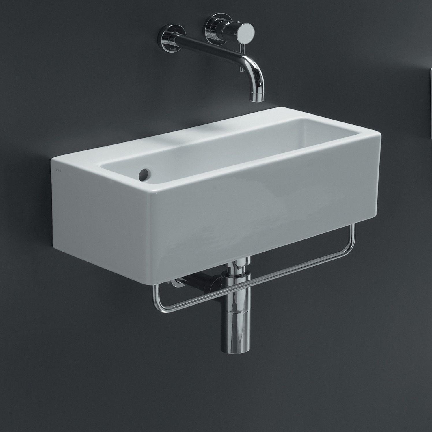 Bissonnet Area Boutique Ice Rectangle Ceramic Bathroom Sink ...