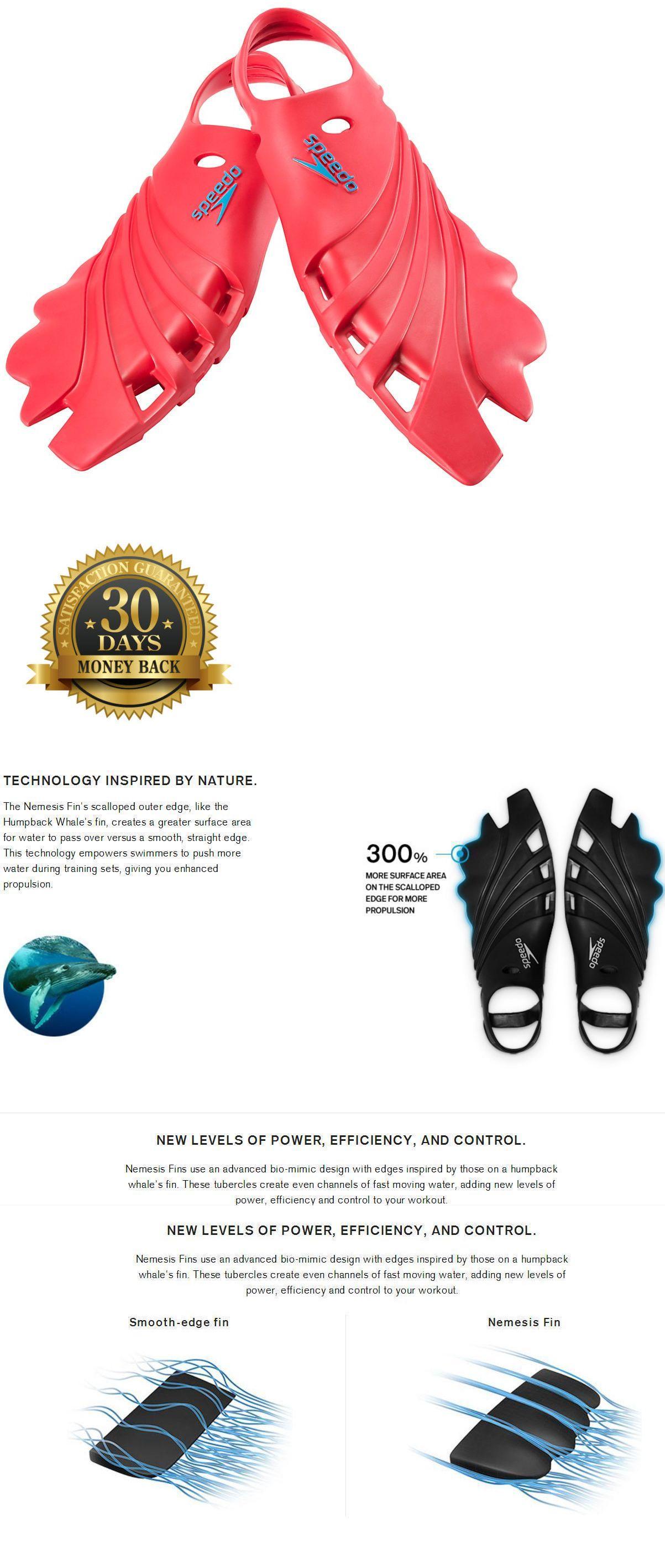 e8d169d105cb Fins 16054  Speedo Nemesis Fins Swimming Scuba Men L Lrg Xl Xxl Red Water  Shoes