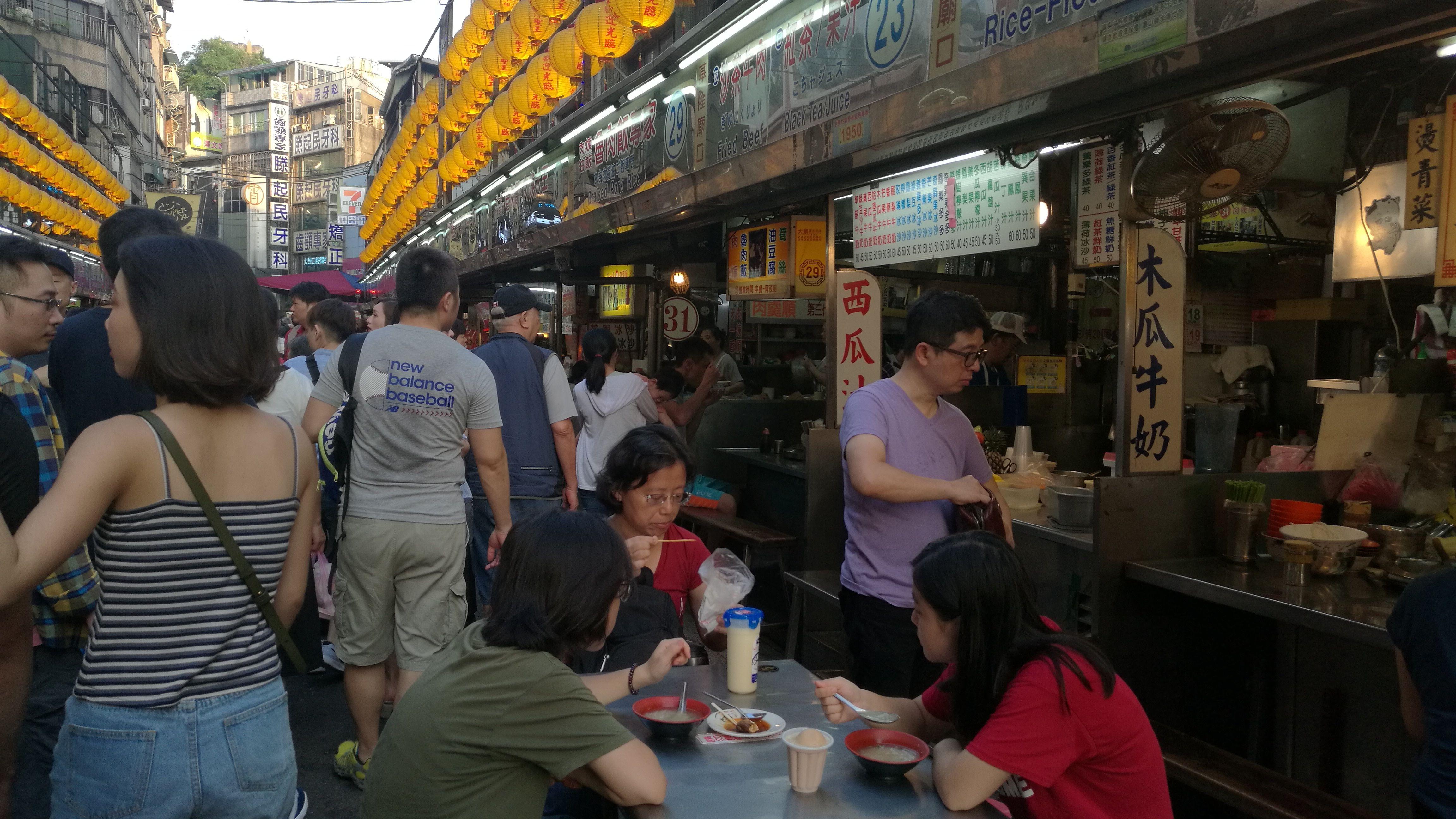 En el mercado nocturno de Keelung