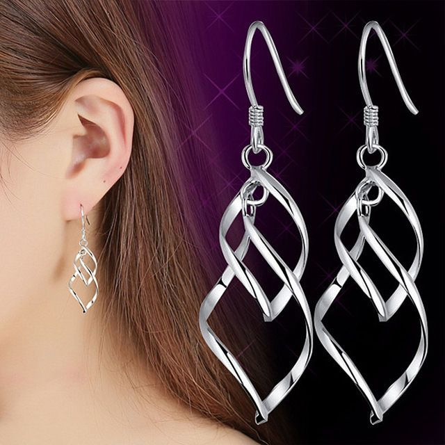 Highly Popular in 2017 Big Dangle Earrings For Women Long Drop - Silver Color   Jewelry & Watches, Fashion Jewelry, Earrings   eBay!