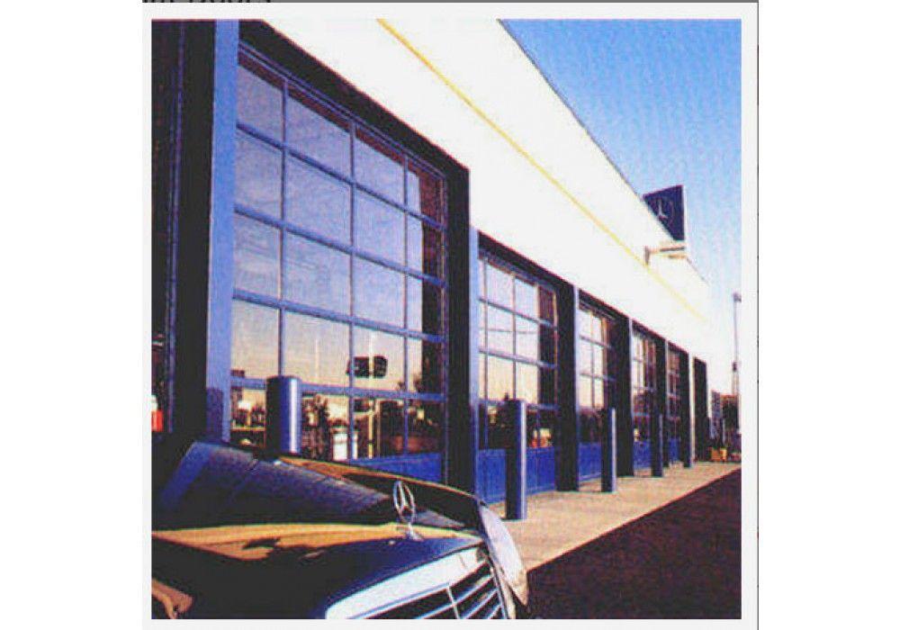 Full view aluminum clear glass commercial garage door - Commercial aluminum exterior doors ...