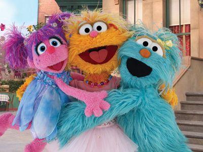 Abby, Zoe and Rosita | Kalia Birthday Party | Sesame street