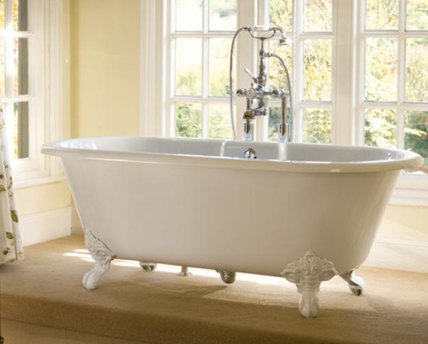 Banheira Vitoriana Cheshire  Doka  Decoração  Banheiro  Pinterest  Banhe -> Decoracao De Banheiro Com Banheira Antiga
