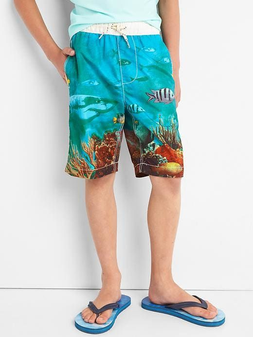 4a82ae7507 Gap Boys Shark Reef Swim Trunks Pacific Rim | Products | Boys ...
