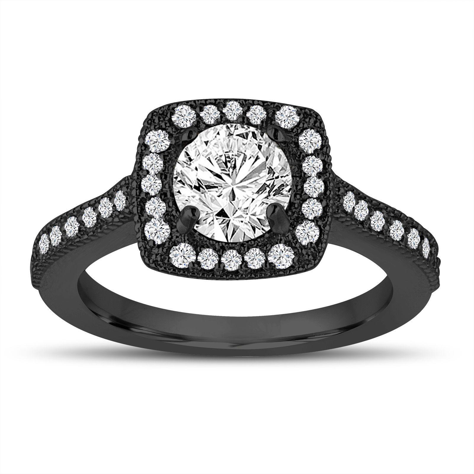 Vintage black diamond engagement rings fashion pinterest