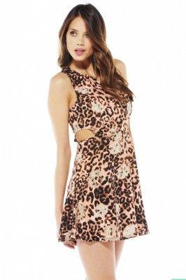 Wild Leopard Print Dress