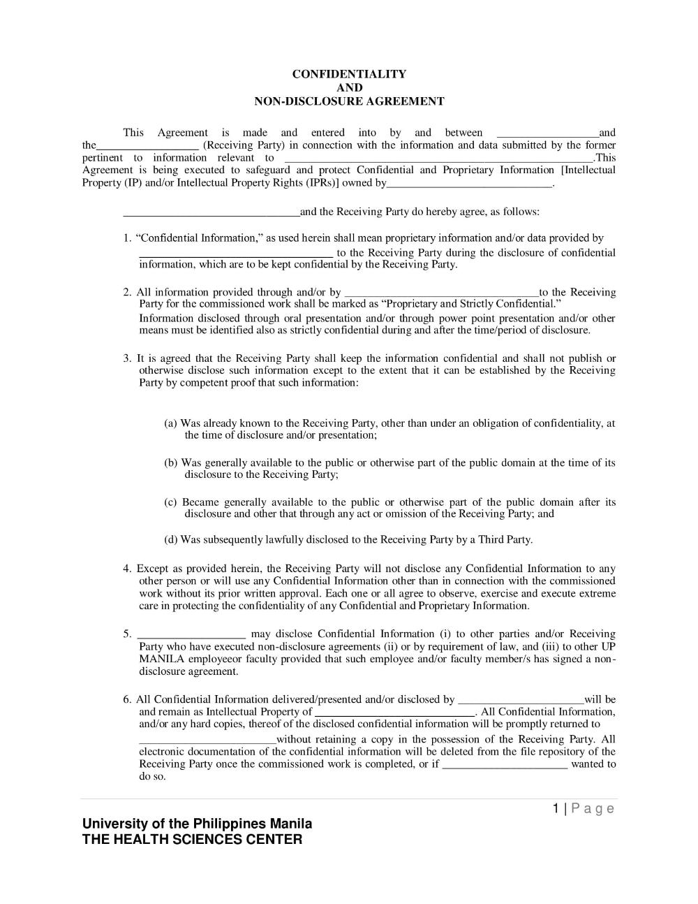 Brilliant Employment Non Disclosure Agreement