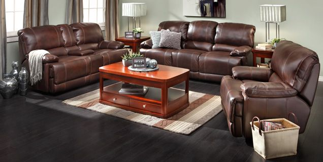 Dream Sofa Group In Rich Saddle Brown Bonded Leather From Mart Livingroom