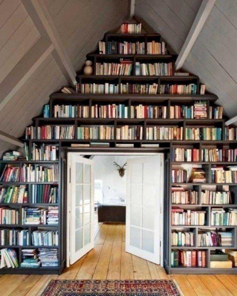 13 Practicas Y Originales Ideas Para Traer La Biblioteca A Tu Casa Bibliotecas Caseras Biblioteca Casera Casas