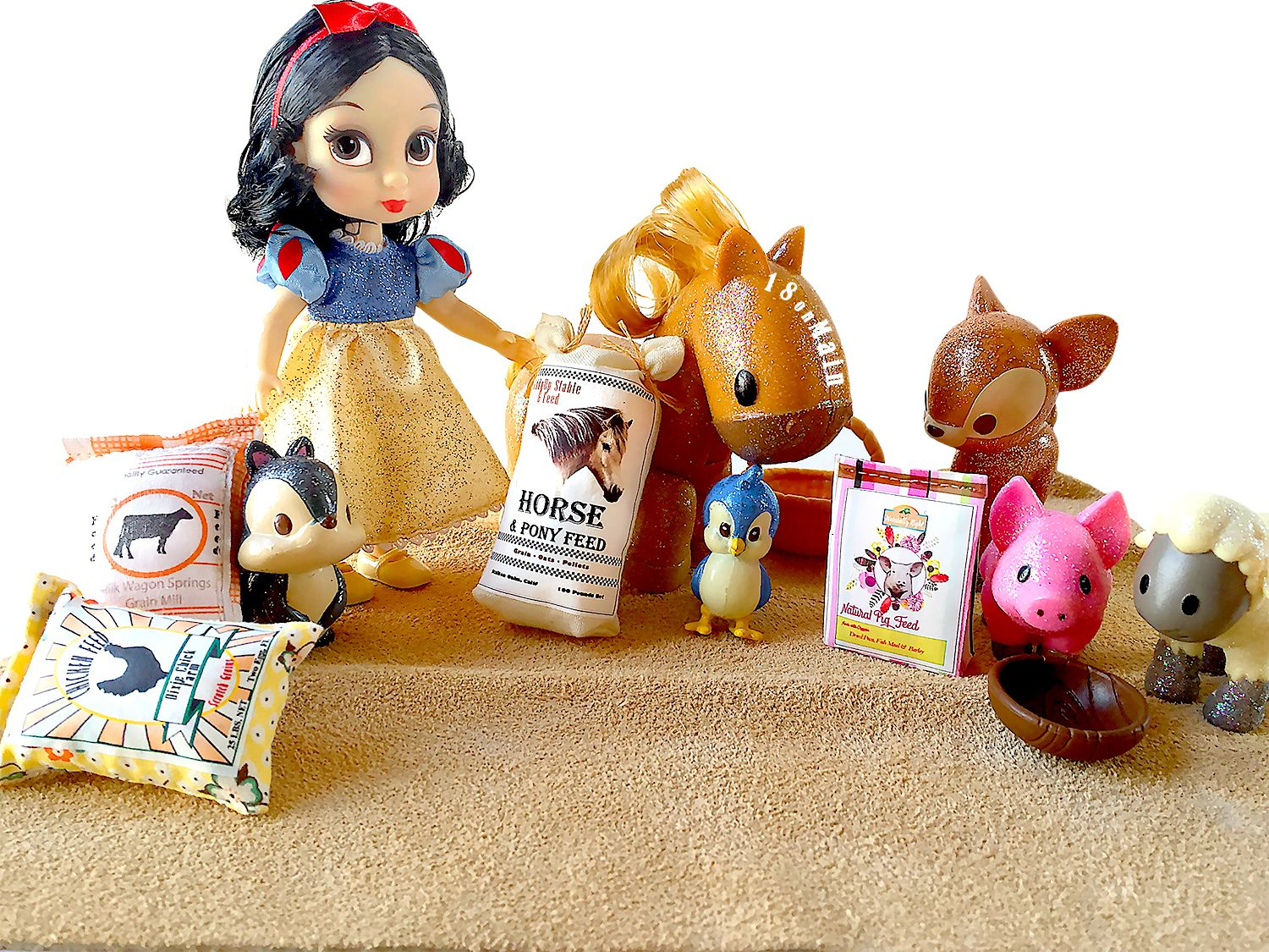 Cowgirl ranch stable pet feed 18 doll pet pattern