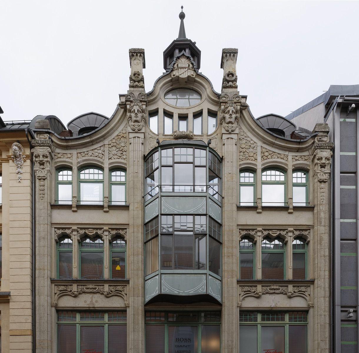 Leipzig Eklektizismus Jugendstil Und Reformstil Architektur 1897 1918 Galerie Page 2 Jugendstil Bauplastik Architektur