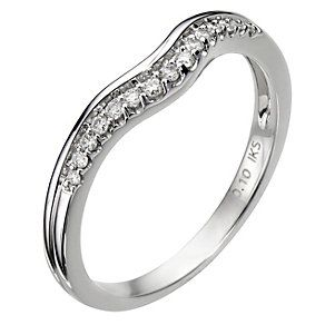 8089957 18ct White Gold U Shaped Diamond Ring Wedding Rings