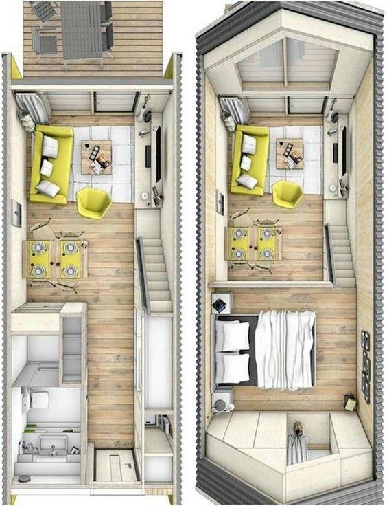 Casa de uno en 2019 casas contenedores micro casas y for Uno casa design
