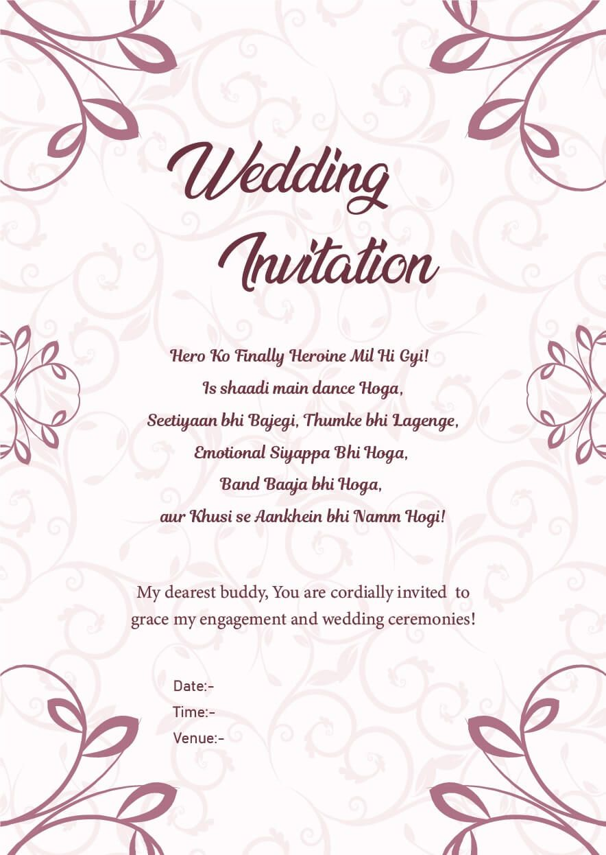 Wedding Invitation Wordings For Friends, Invite Quotes & Messages
