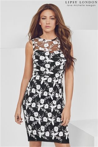 8756a55bfc31 Buy Lipsy Love Michelle Keegan Flower Embroidery Bodycon Dress from the Next  UK online shop
