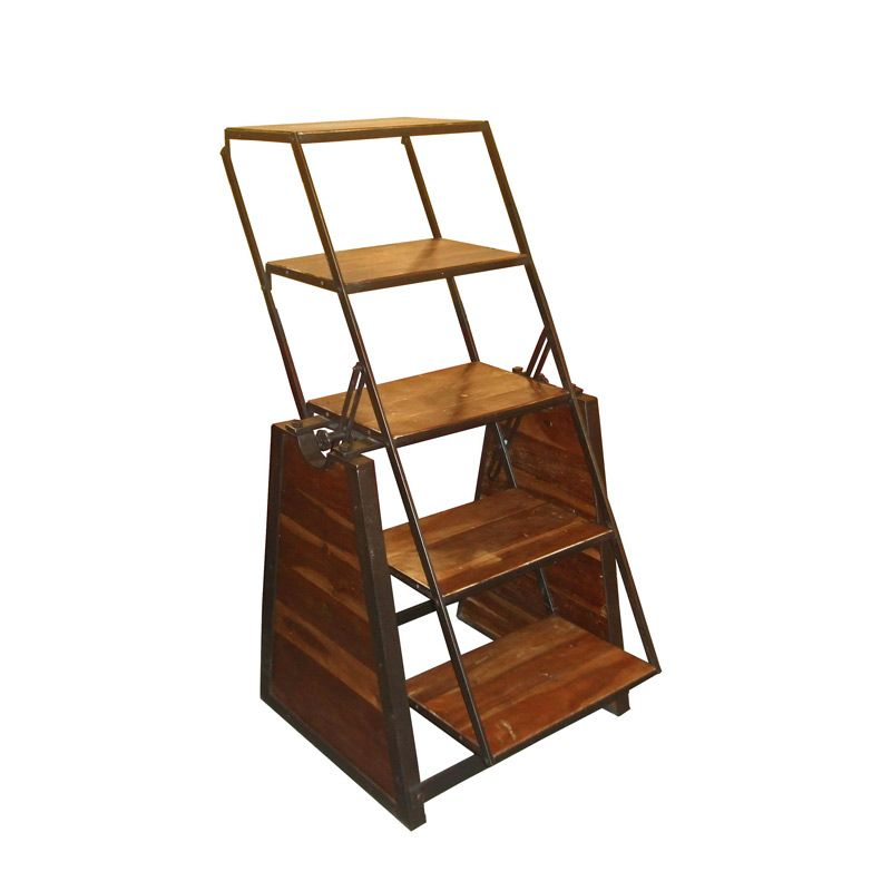 Urban Ladder Kitchen Shelf: Urban Vintage Wooden Shelving / Table Unit