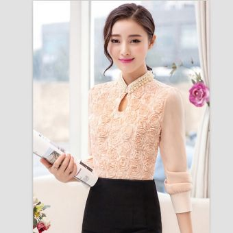Compra Blusa De Mangas Largas Elegante Con Perlas Y Encaje Color Rosada Online Linio Mexico Fashion Sleeveless Crop Top Outfits