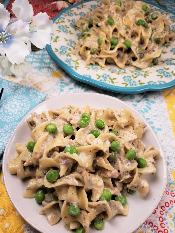 pressure cooker tuna noodle casserole is pure comfort food