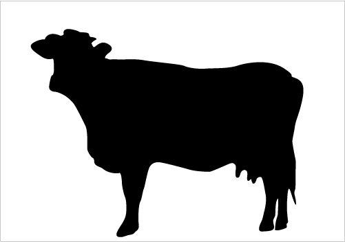 best cow silhouettes for farm animal design silhouette graphics rh pinterest com cow vector silhouette free cow head silhouette vector