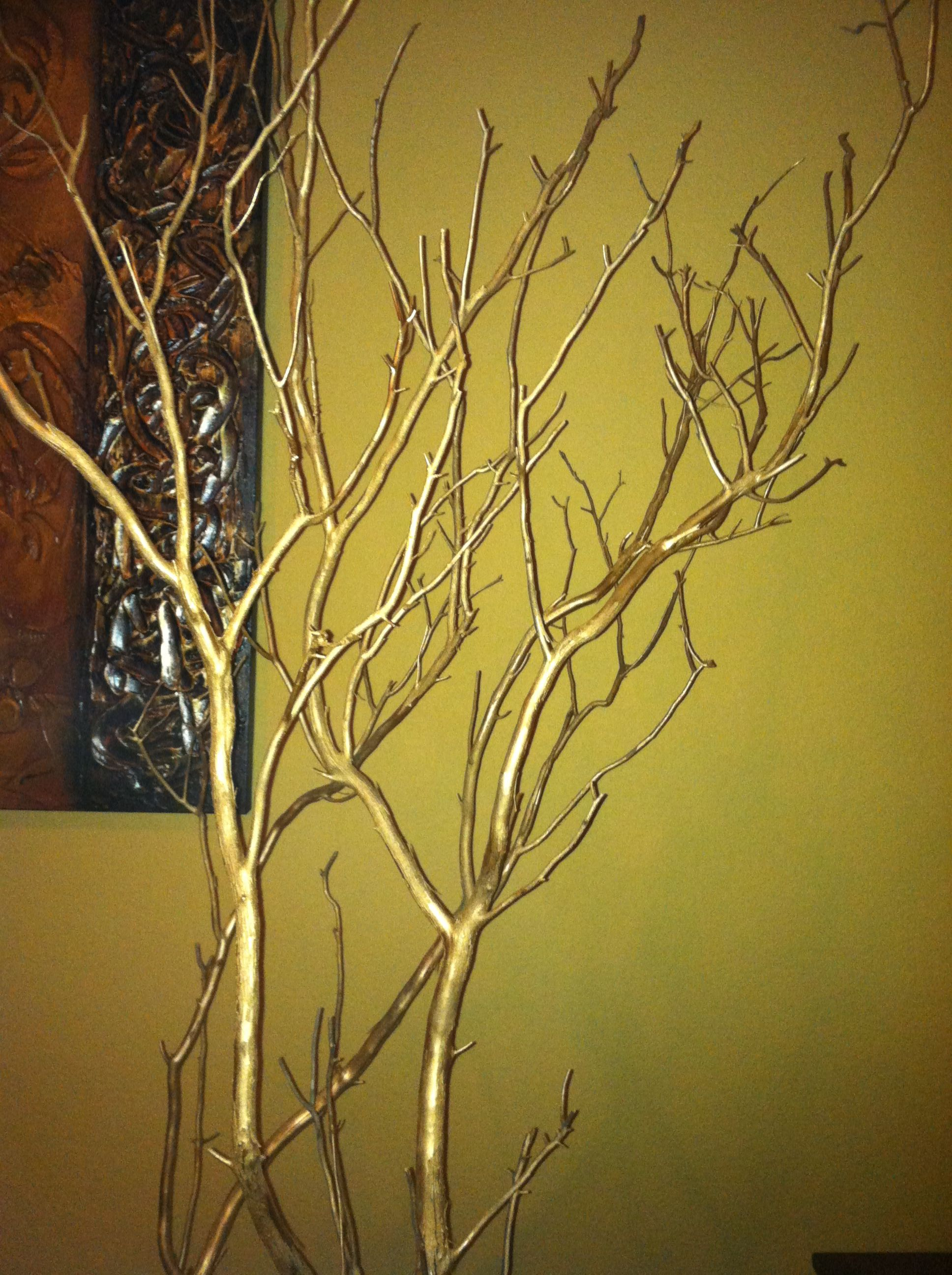 Jewelry tree, manzanita branches. Gold is rich looking and very ...