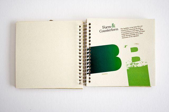 Type study book - Minimalism by valeriamelo, via Flickr