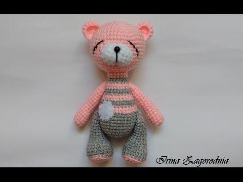 Мишка сплюшка-вязание крючком.Игрушку амигуруми.Игрушка мишка своими руками - YouTube