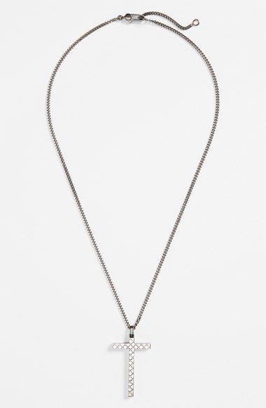 cb5f15d62f Gucci 'Diamantissima' Cross Necklace   Products   Sterling silver ...
