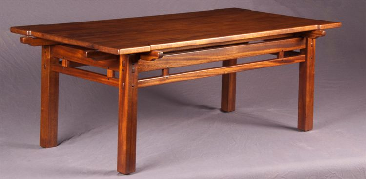 Darrell Peart Furnituremaker Greene Style Rafter Tail Coffee Table