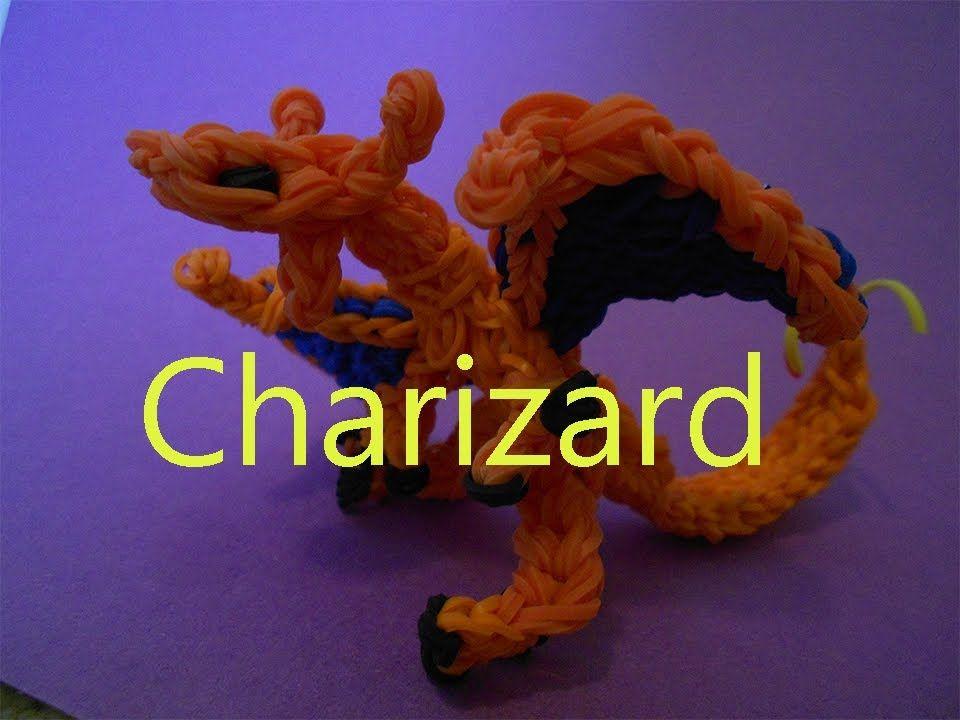 Rainbow Loom Charms Charizard Dragon Pokemon Tutorial