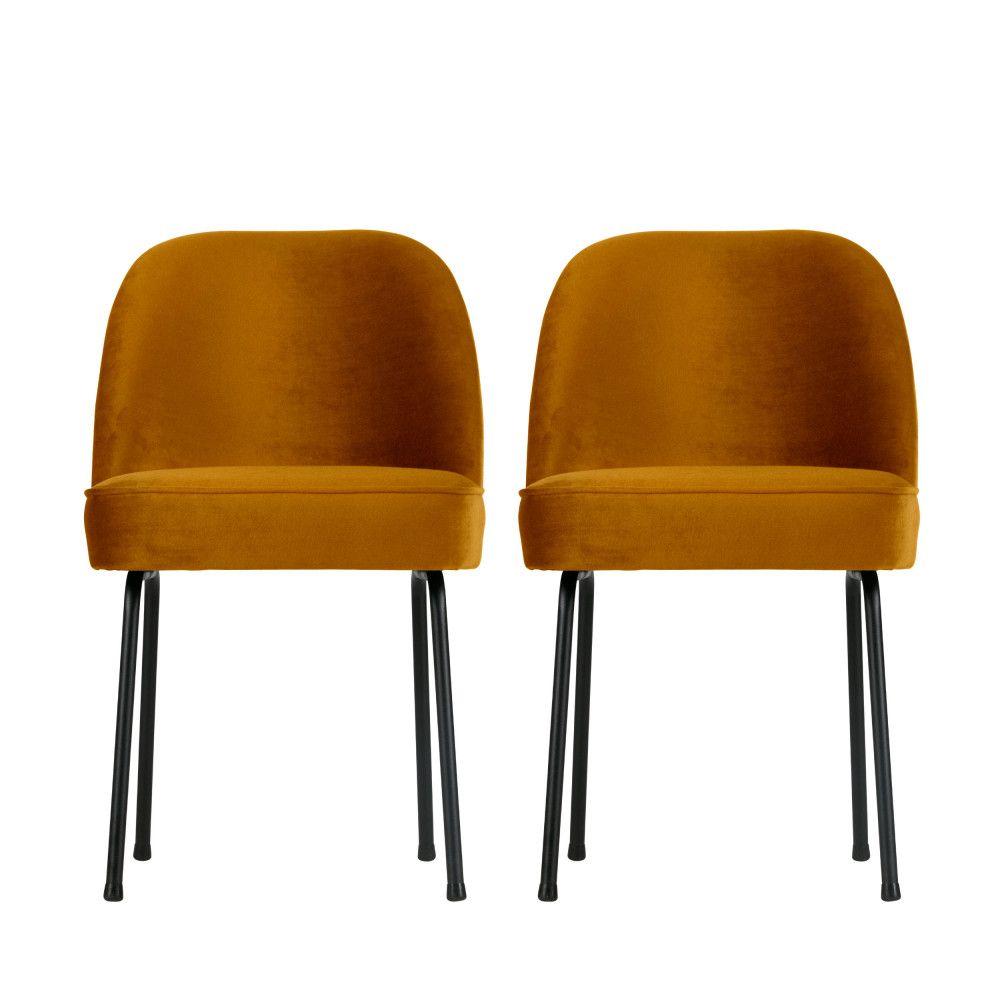 Vogue 2 Chaises Design En Velours Chaise Design Chaise Velour Chaise