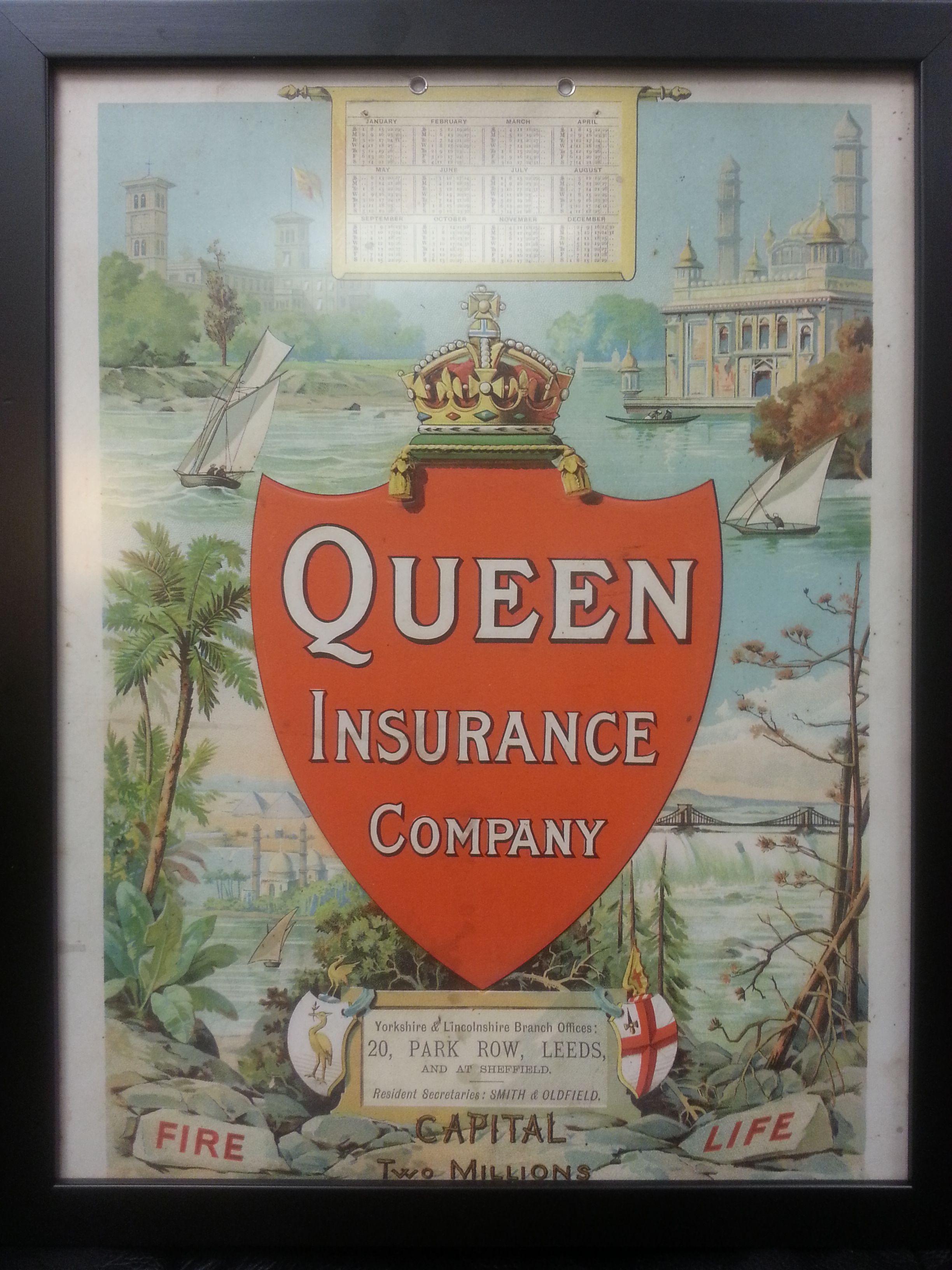 Queen Insurance Company | Antique Insurance & Fire Signs | Pinterest ...