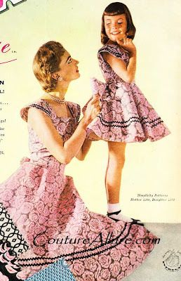 Vintage Mother Daughter Matching Dresses Vintage Clothes
