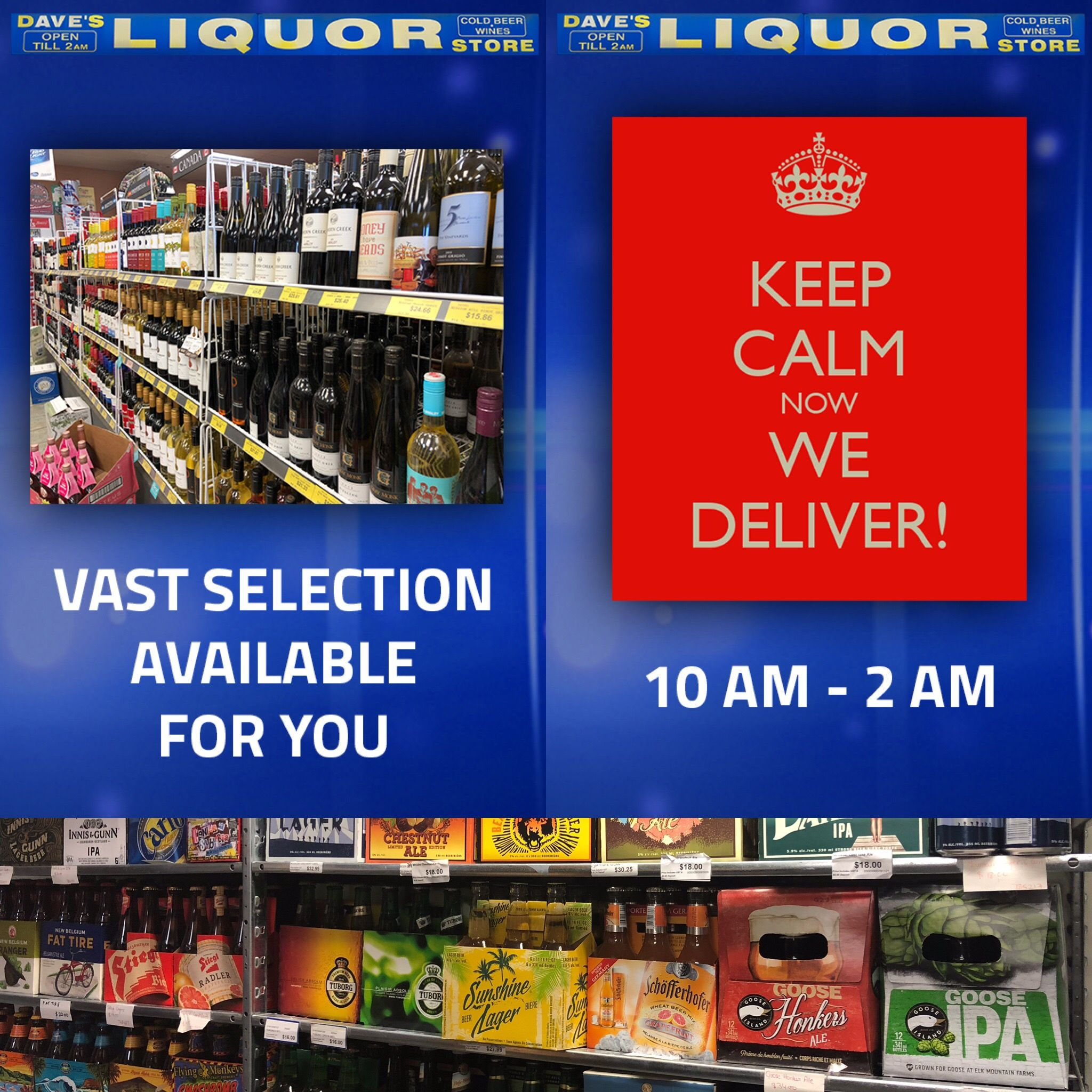 Calgary Dave S Liquor Store Not Only Has A Huge Selection They Also Deliver Davesliquorstore Davesliquor Ibdmedia Ibd Me Liquor Store Ibd Billboard