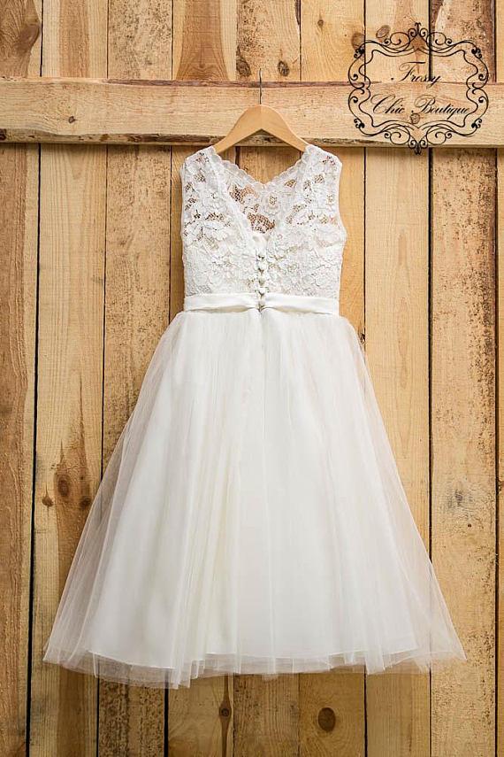 55ba37ef Ivory first communion dress flower girl tulle lace flower girl dress baby lace  dress champagne todd