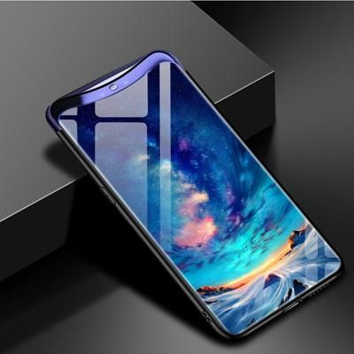 the best attitude 0c162 b3879 For oppo Find X case tempered glass back cover For oppo FindX Phone ...