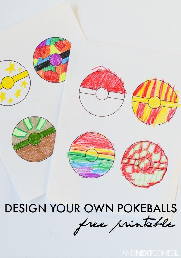 Free Printable Pokeballs Coloring Sheet for Kids Kid Fun