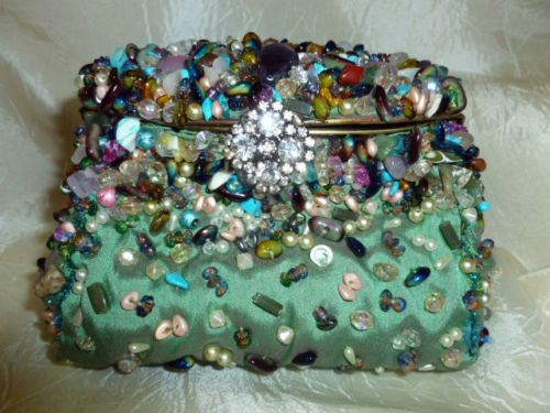 Mary Frances AMAZING BAG Clutch Cross-Body PRECIOUS STONES Through-Out New W Tag