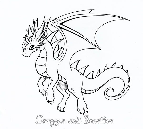 This Little Cutie Will Be On The Cover Of My Coloring Book Which Should Be Available For Purchase Next Cute Dragon Drawing Dragon Coloring Page Dragon Drawing