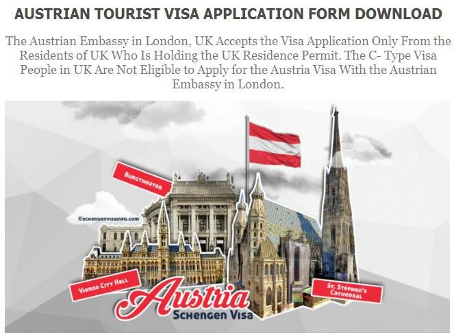 The Austrian Embassy In London Uk Accepts The Visa Application Only From The Residents Of Uk Who Is Holding The Uk Residence P Visa How To Apply Austria