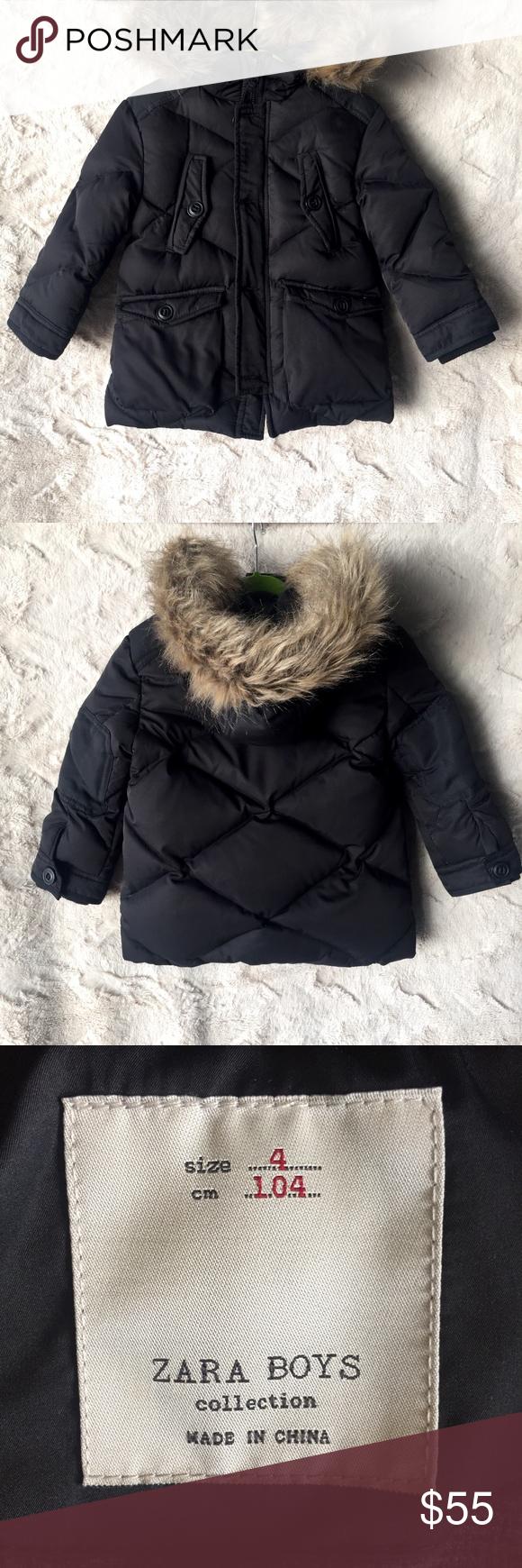 Zara Boys Hooded Down Puffer Jacket 4t Zara Boys Zara Puffer Jackets [ 1740 x 580 Pixel ]
