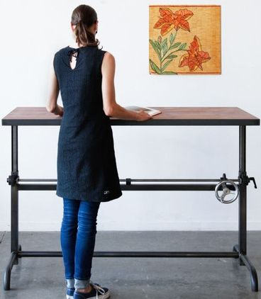 How To Stylishly Design A Standing Desk Into Your Home Office Designed Best Standing Desk Adjustable Height Desk Home Office Design