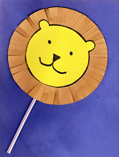 Cute Lion Puppet Craft For Preschoolers This Would Be A Great