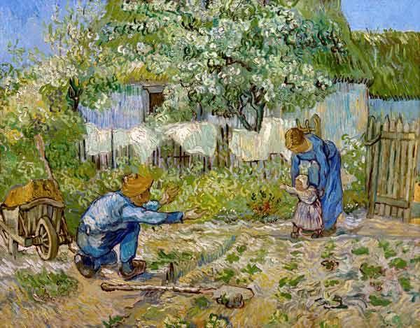 Afbeelding Vincent van Gogh - Eerste stapjes (naar Millet)