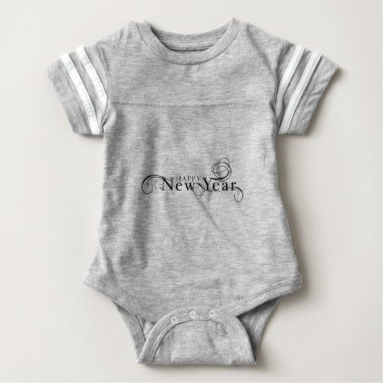 Happy New Year Baby Bodysuit New Year S Eve Happy New Year Designs Party Celebration Saint Sylv Baby Clothes Country Funny Baby Clothes Baby Christmas Outfit