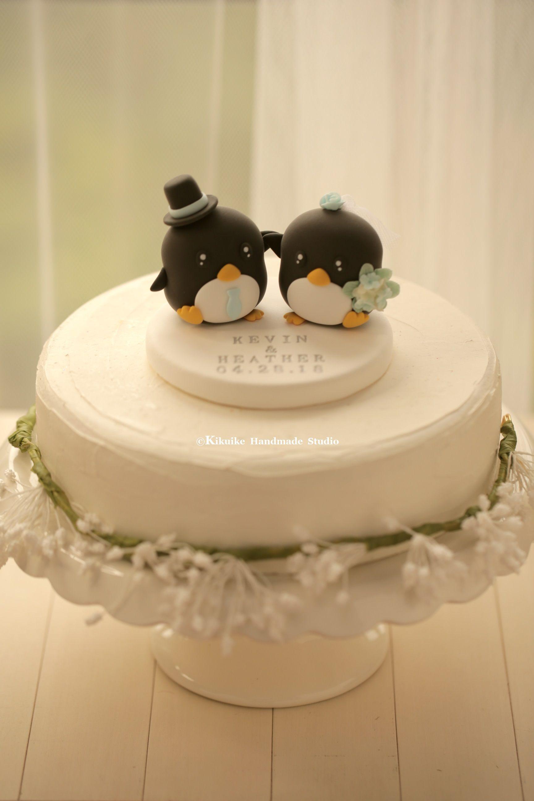 Penguins Wedding Cake Topper (K417)
